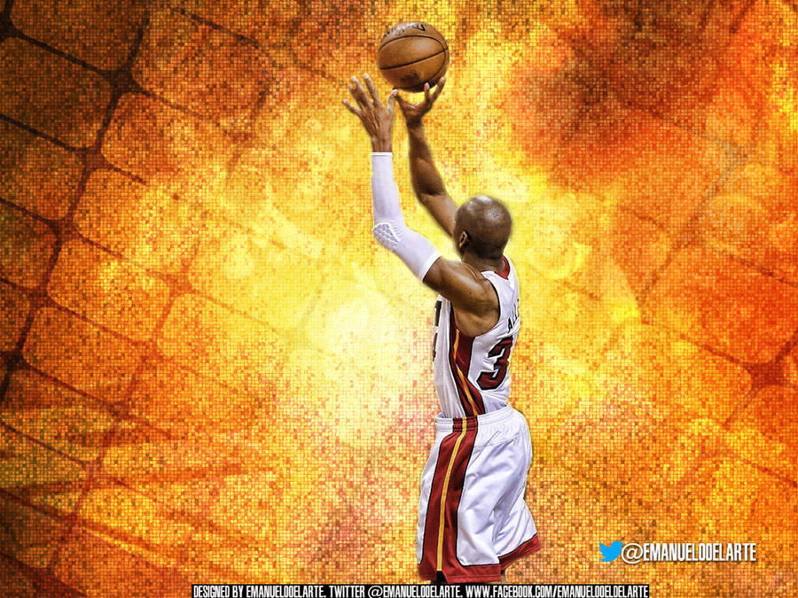 Ray Allen 2013 Finals Game 6 Shot 1280x960 Wallpaper