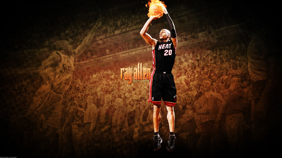 Ray Allen Heat 2560x1440 Wallpaper