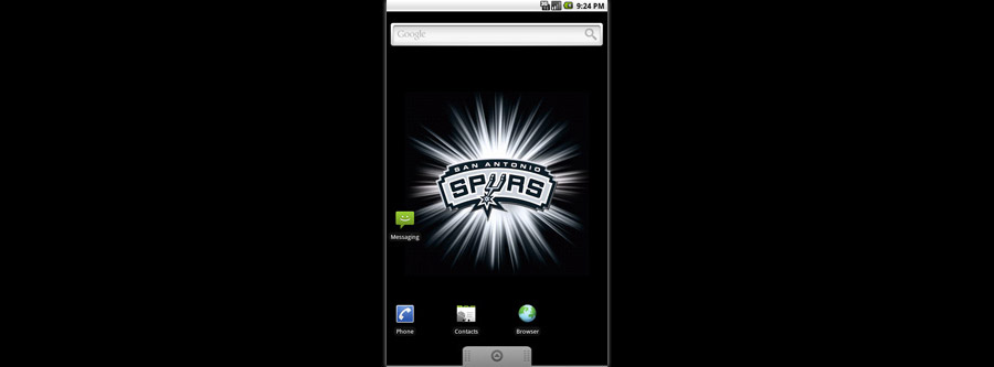 San Antonio Spurs Logo Live Android Wallpaper