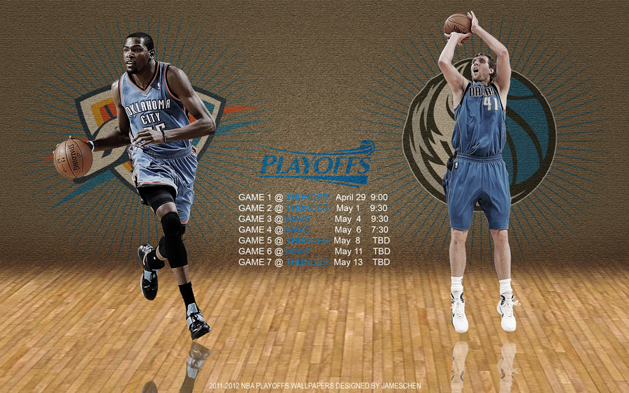 Thunder - Mavericks 2012 NBA Playoffs 2560x1600 Wallpaper