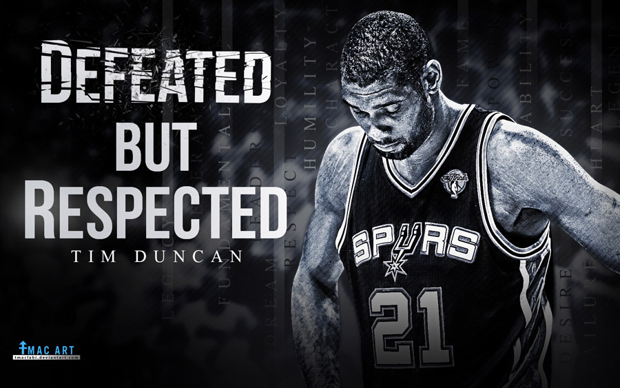 Tim Duncan Defeated But Respected 1680x1050 Wallpaper