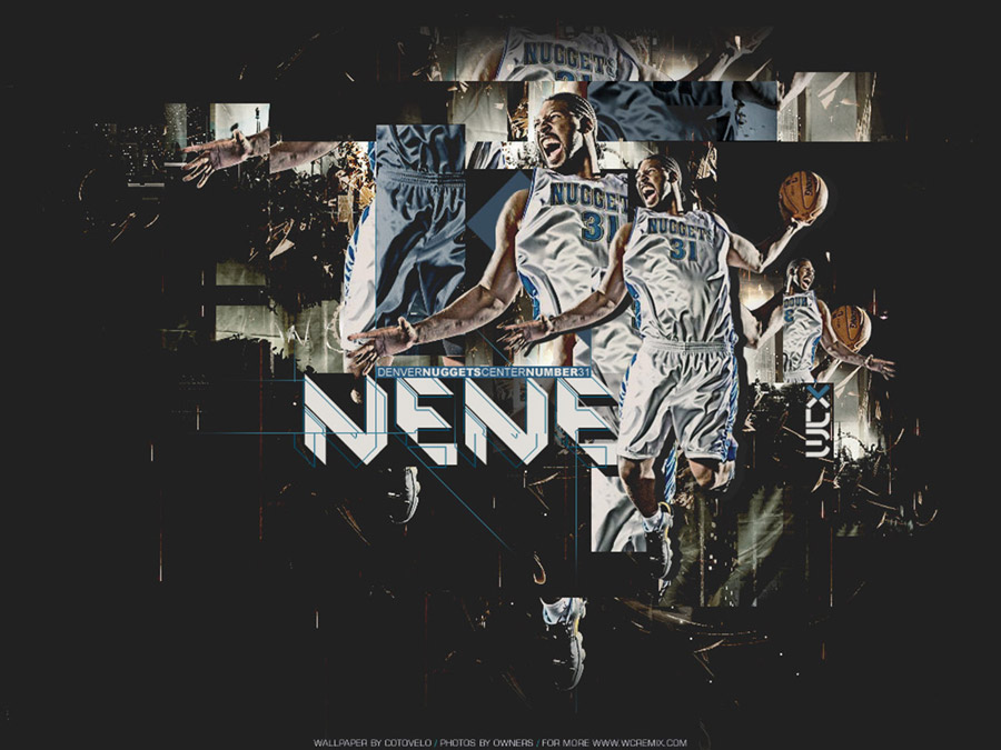 Nene Hilario Denver Nuggets Wallpaper