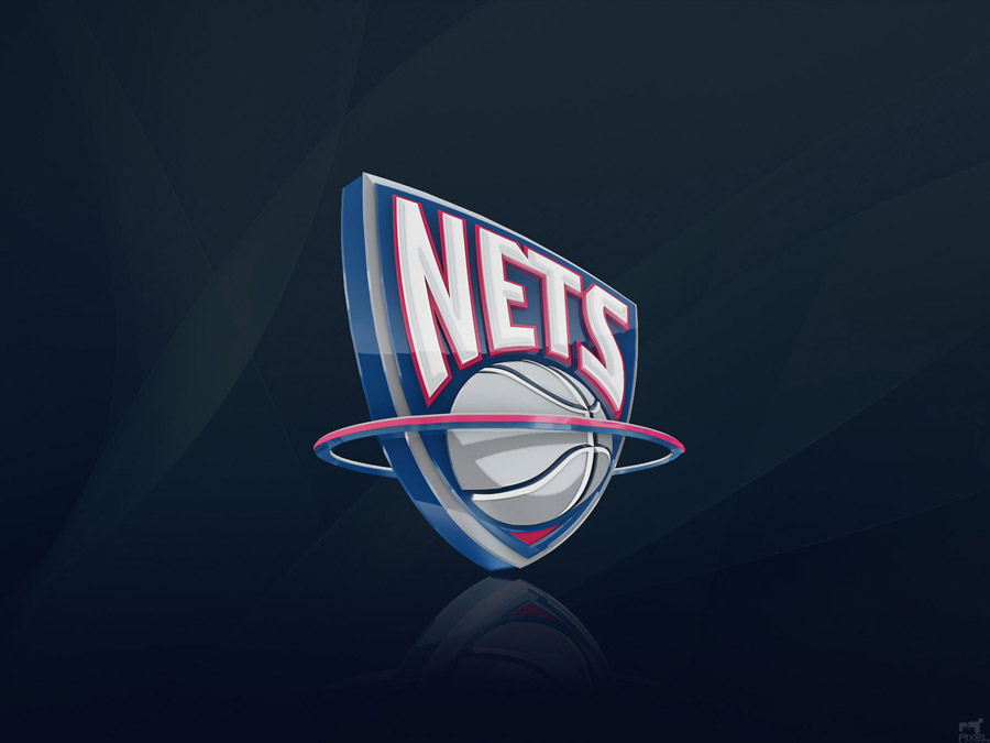 New Jersey Nets 3D Logo Wallpaper