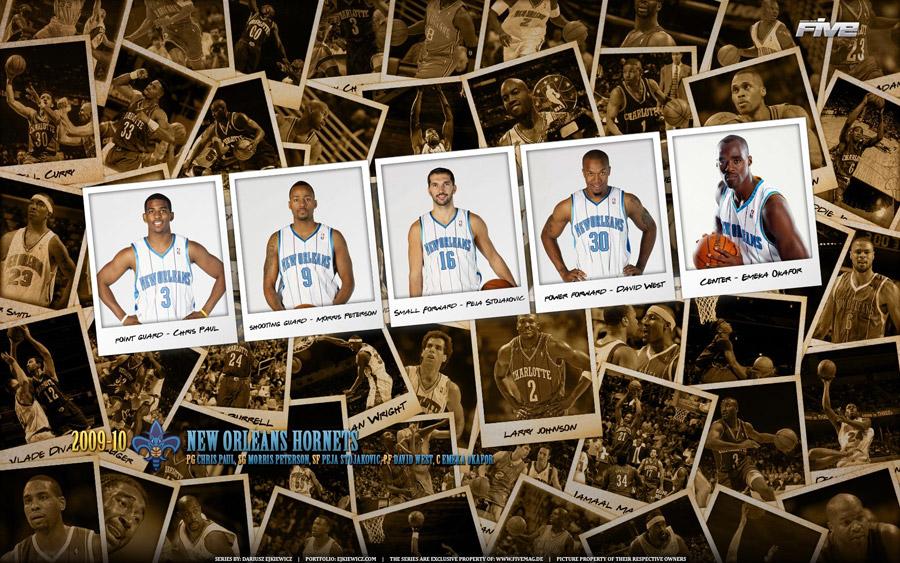 New Orleans Hornets Polaroid 2010 Widescreen Wallpaper