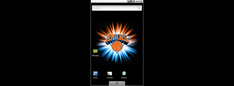 New York Knicks Logo Live Android Wallpaper