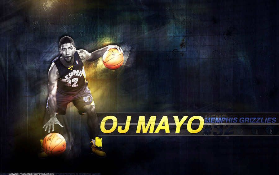 O.J. Mayo Grizzlies Widescreen Wallpaper