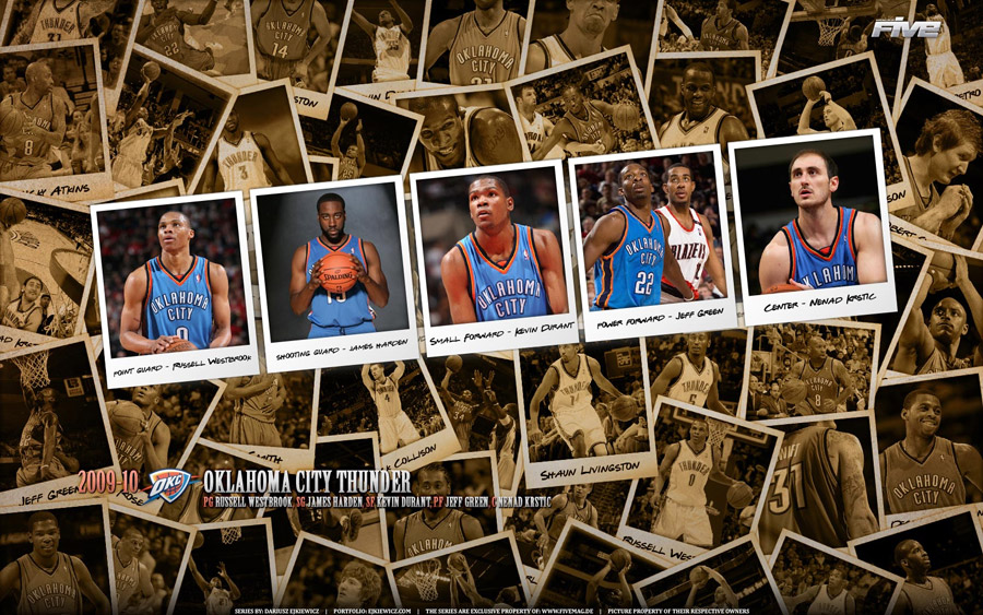 Oklahoma City Thunder 2010 Widescreen Wallpaper