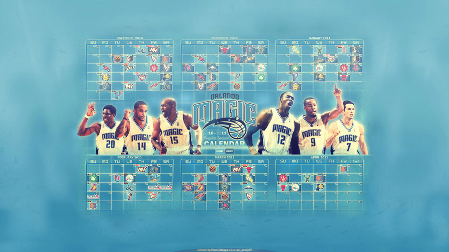 Orlando Magic 2010-11 Schedule Widescreen Wallpaper