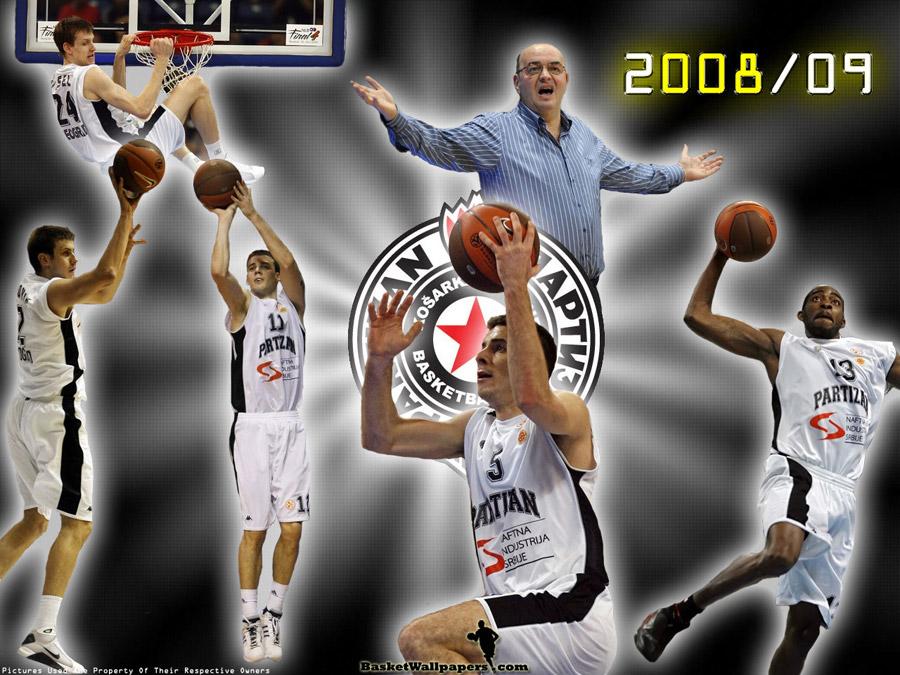 Partizan Belgrade 2008-09 Wallpaper