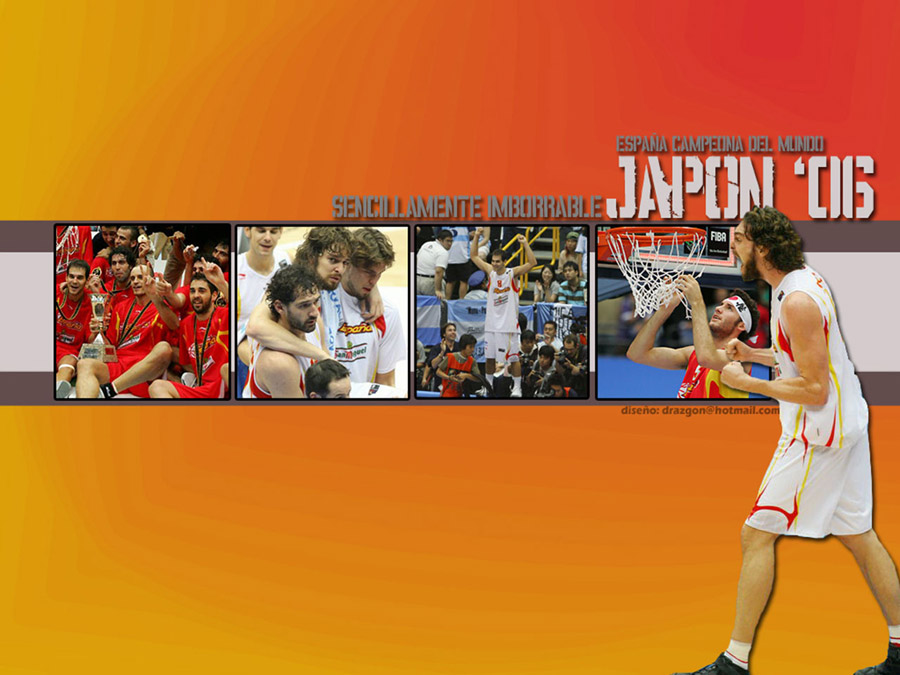 Pau Gasol Spain FIBA World Champions 2006 Wallpaper