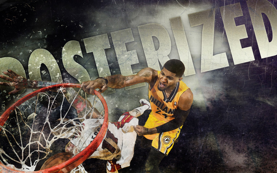 Paul George Dunk Over Birdman 2013 2560x1600 Wallpaper