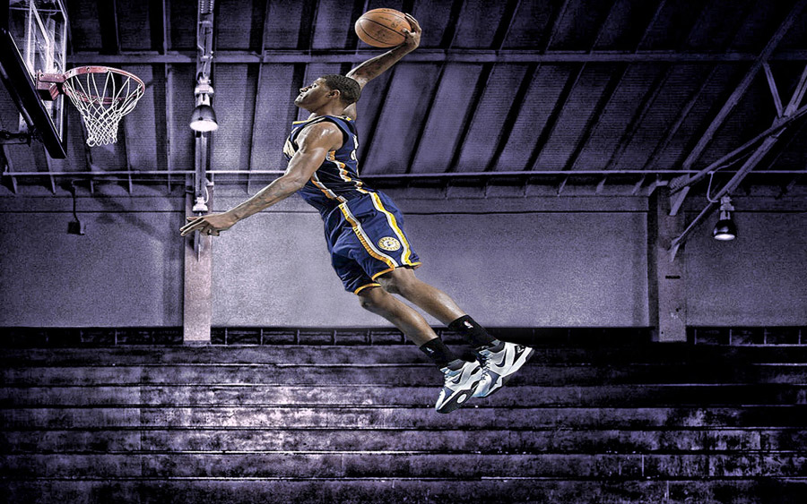 Paul George Pacers Dunk 1440x900 Wallpaper