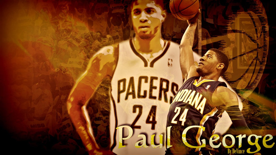 Paul George Slam Dunk 1600x900 Wallpaper
