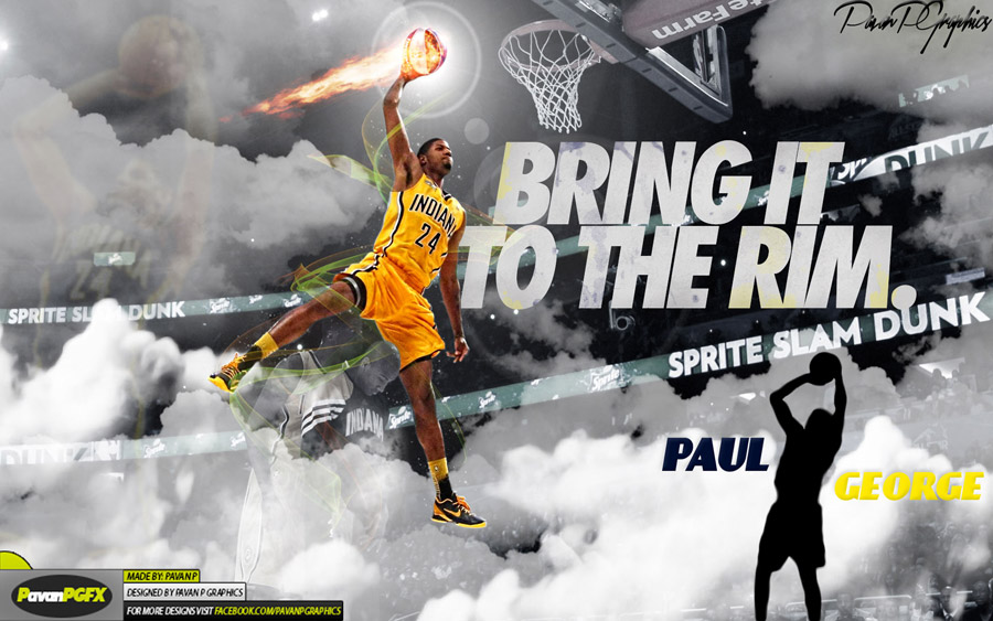 Paul George Sprite Slam Dunk 1680x1050 Wallpaper