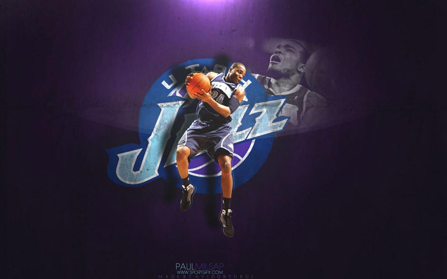 Paul Millsap Utah Jazz Widescreen Wallpaper