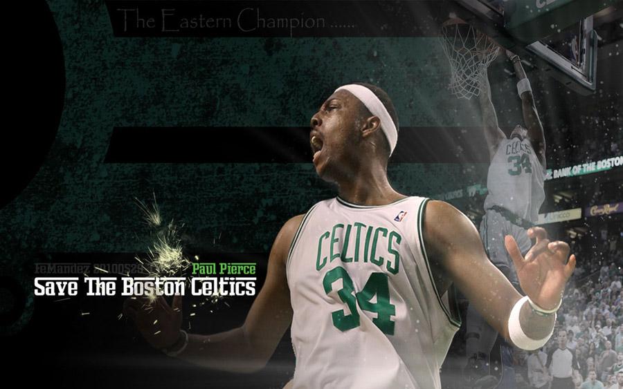 Paul Pierce Celtics 2010 Playoffs Widescreen Wallpaper