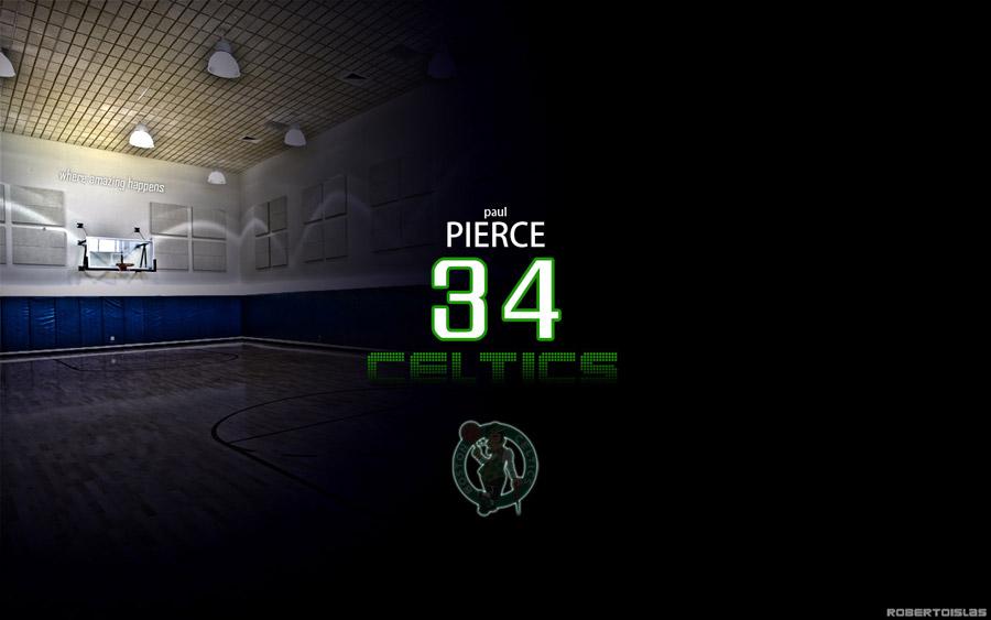Paul Pierce Number 34 Widescreen Wallpaper