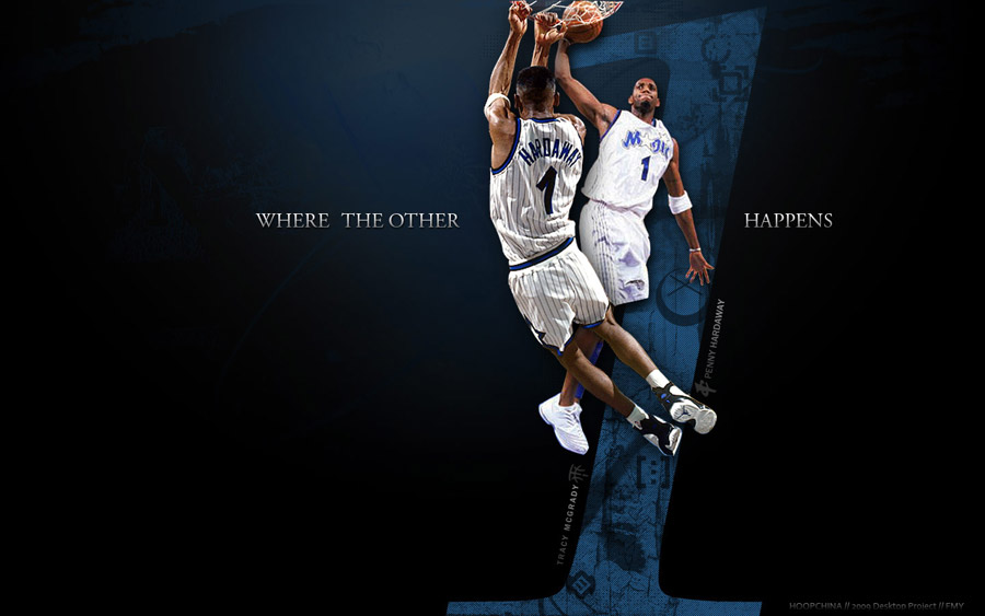 Penny Hardaway and T-Mac Magic Widescreen Wallpaper