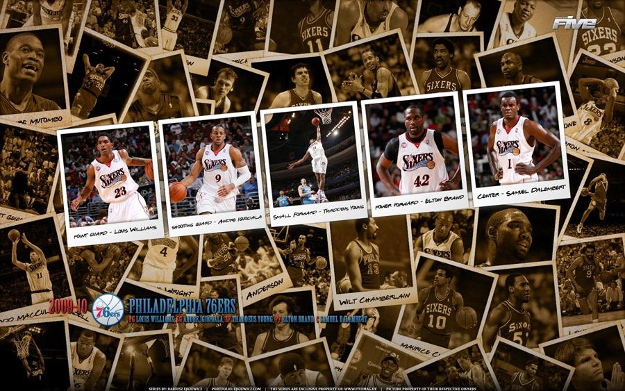 Philadelphia 76ers 2010 Widescreen Wallpaper