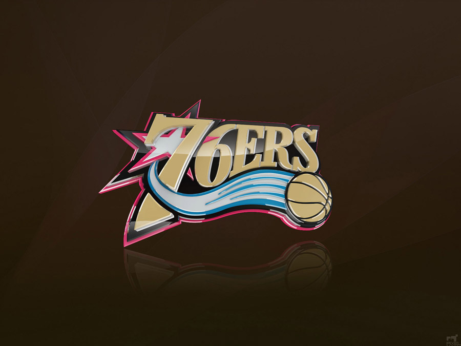 Philadelphia 76ers 3D Logo Wallpaper