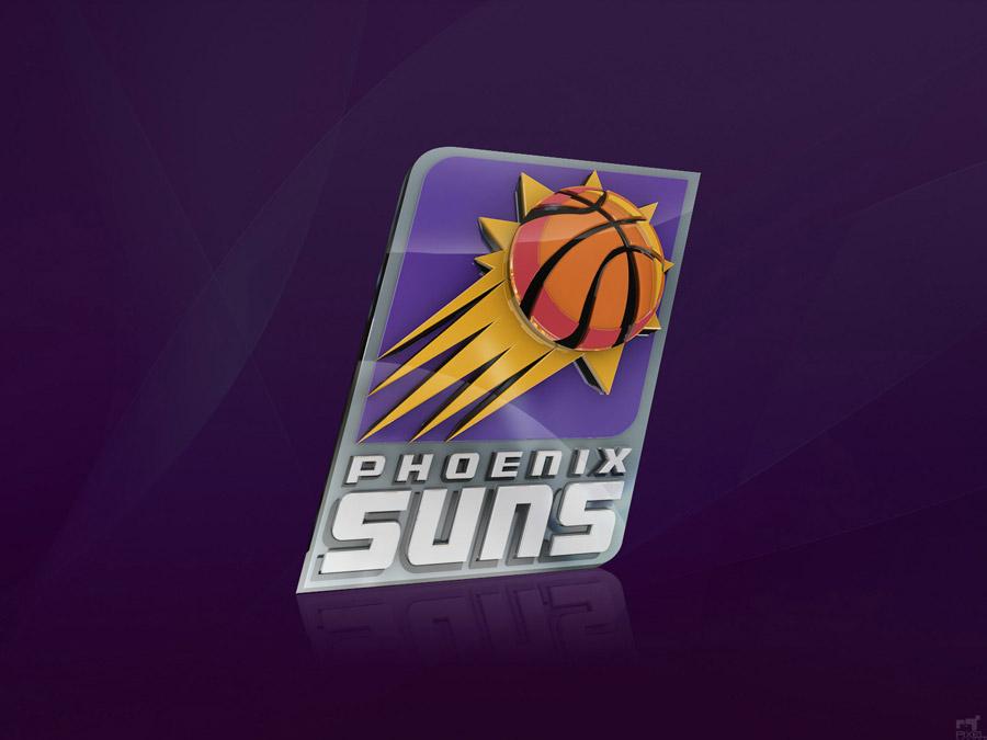Phoenix Suns 3D Logo Wallpaper