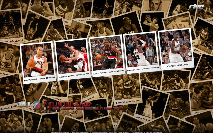 Portland Trailblazers Polaroid 2010 Widescreen Wallpaper
