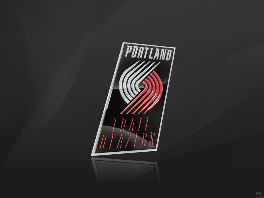 Portland Trailblazers 3D Logo Wallpaper