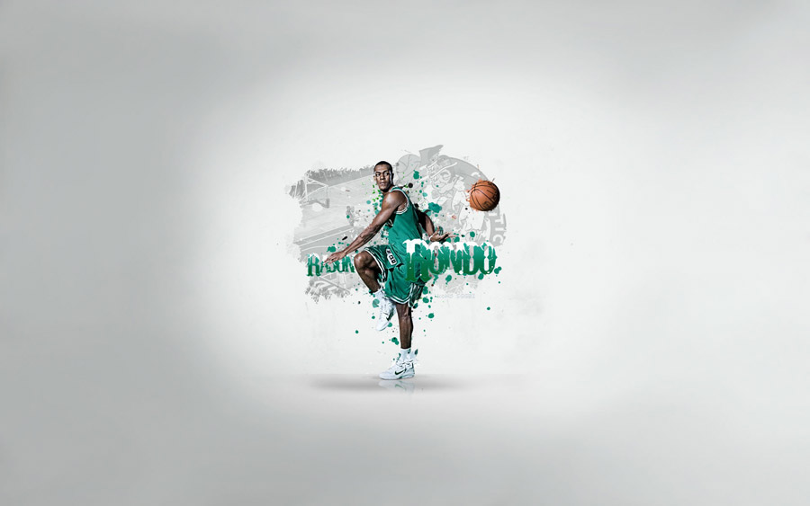 Rajon Rondo Behind The Back Pass Widescreen Wallpaper