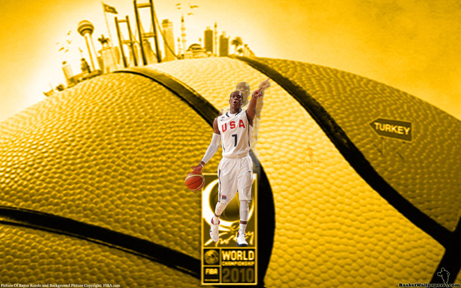 Rajon Rondo USA Team Widescreen Wallpaper