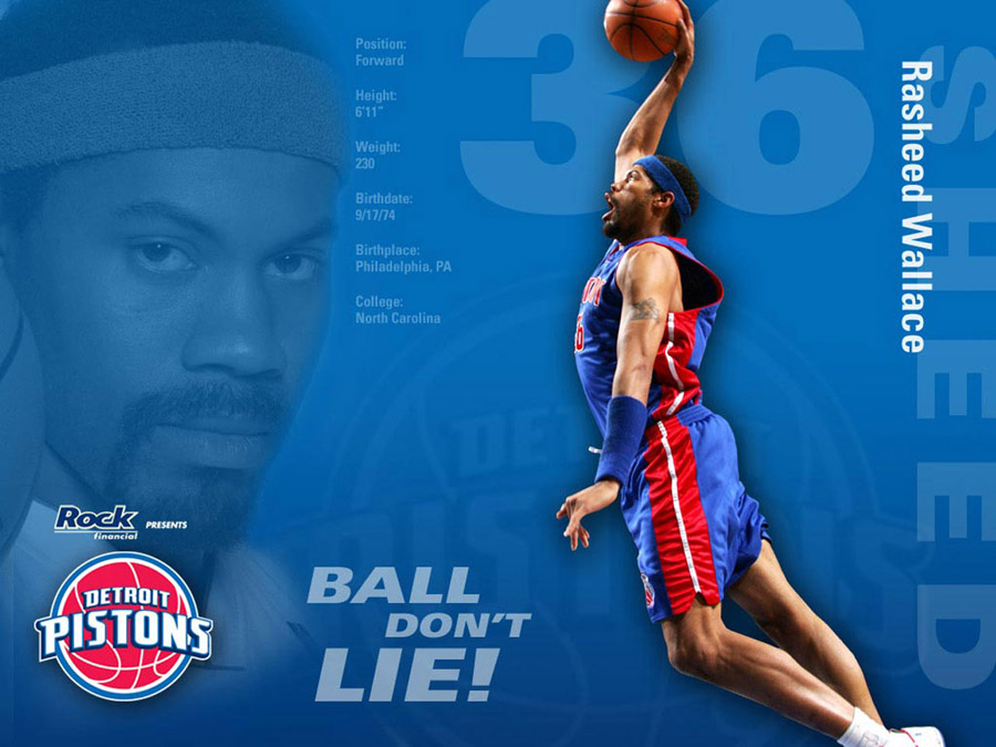 Rasheed Wallace Pistons Wallpaper