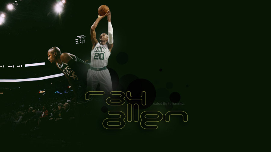 Ray Allen Celtics 2011 Widescreen Wallpaper