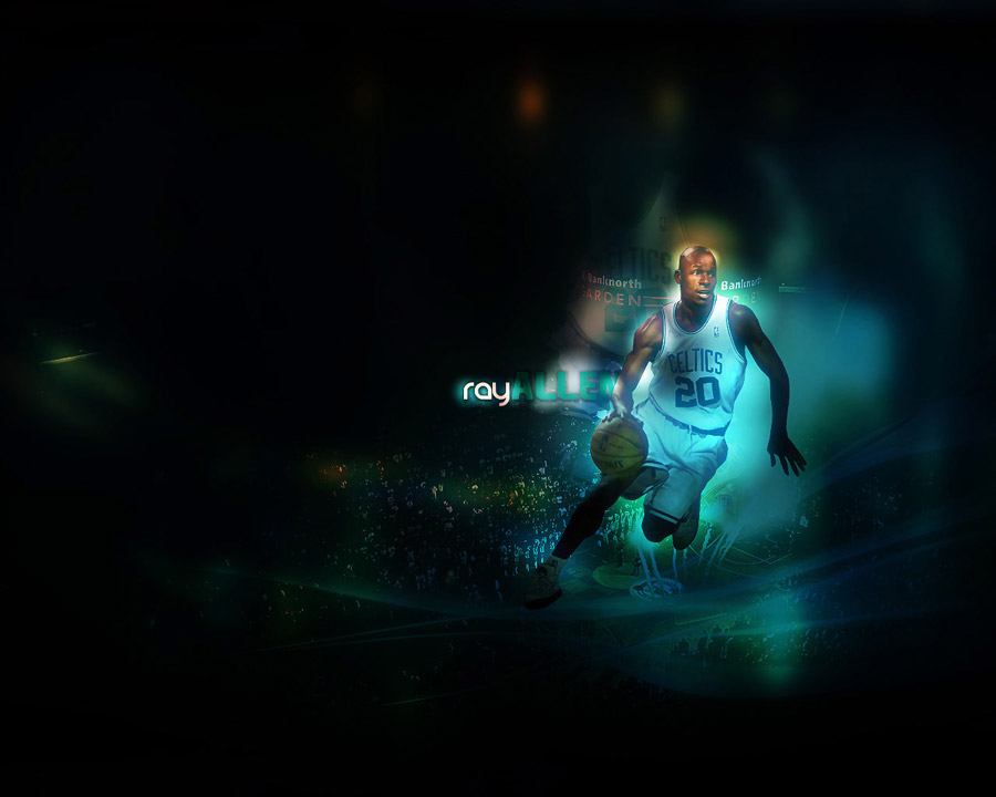 Ray Allen Celtics Dribbling Wallpaper