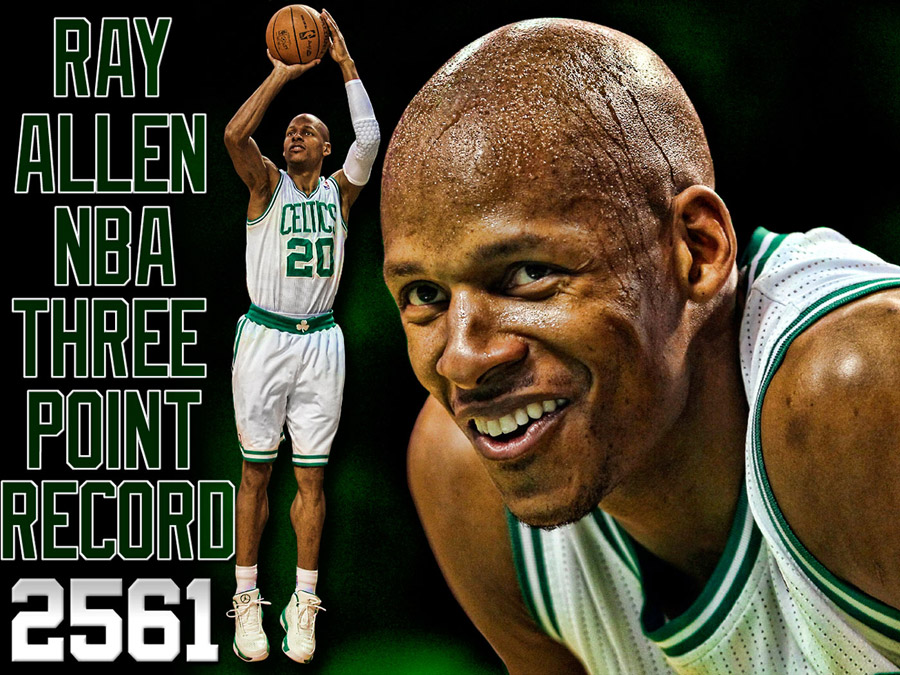 Ray Allen NBA All-Time 3pts Leader Wallpaper