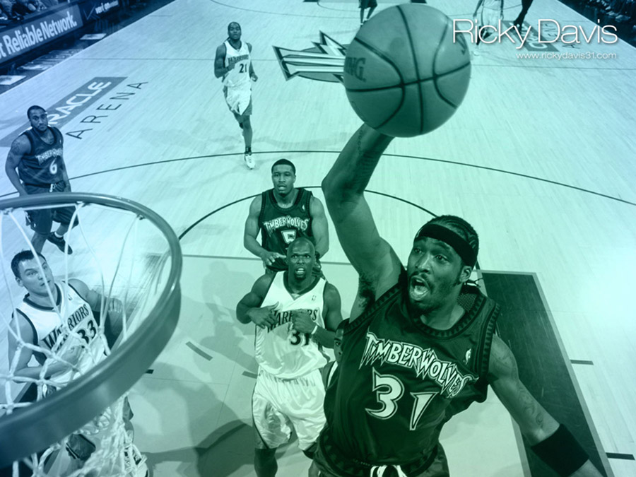 Ricky Davis Timberwolves Wallpaper