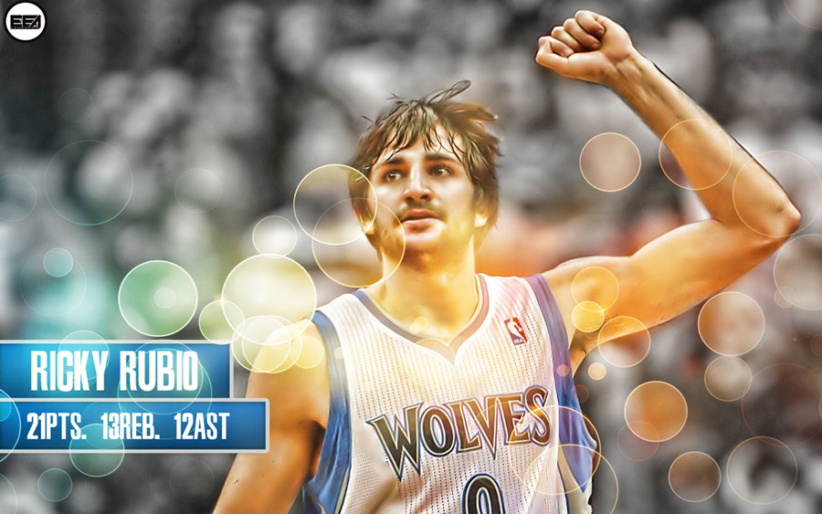 Ricky Rubio 1st NBA Triple-Double 1280x800 Wallpaper