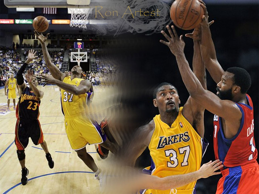 Ron Artest 1024x768 Lakers Wallpaper