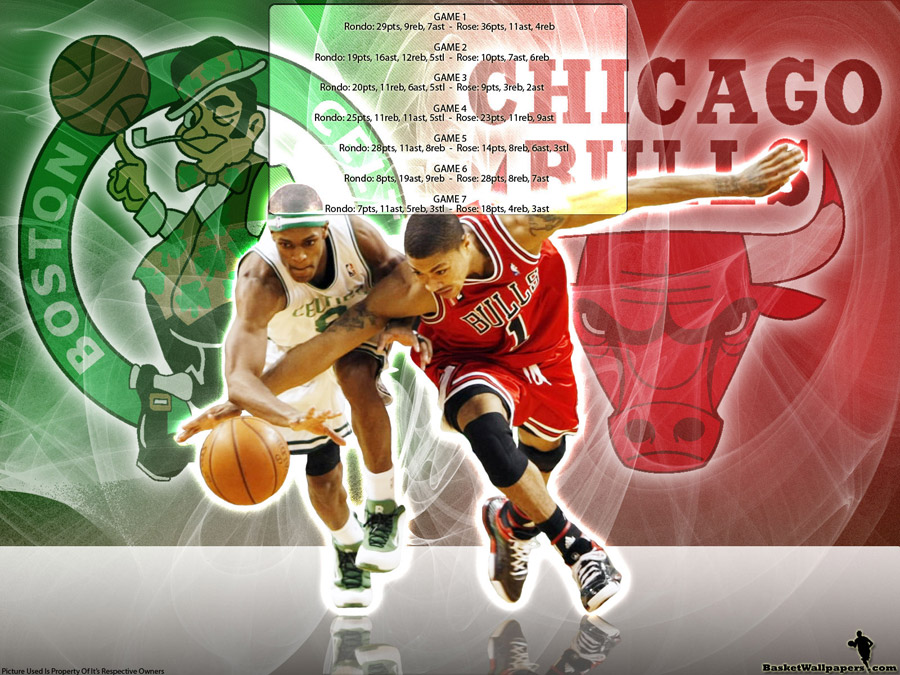 Rondo - Rose 2009 Playoffs Matchup Wallpaper
