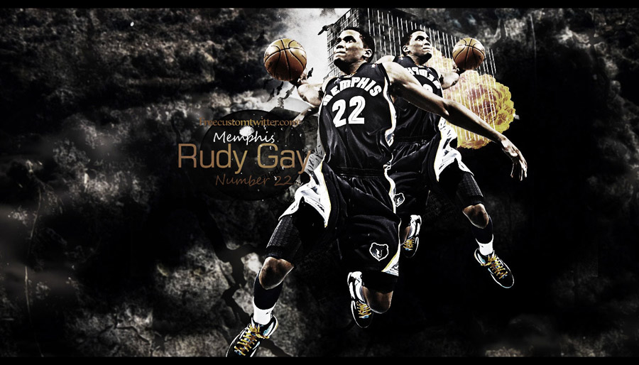 Rudy Gay Grizzlies Widescreen Wallpaper