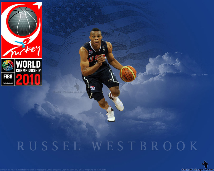 Russell Westbrook FIBA WC 2010 Wallpaper