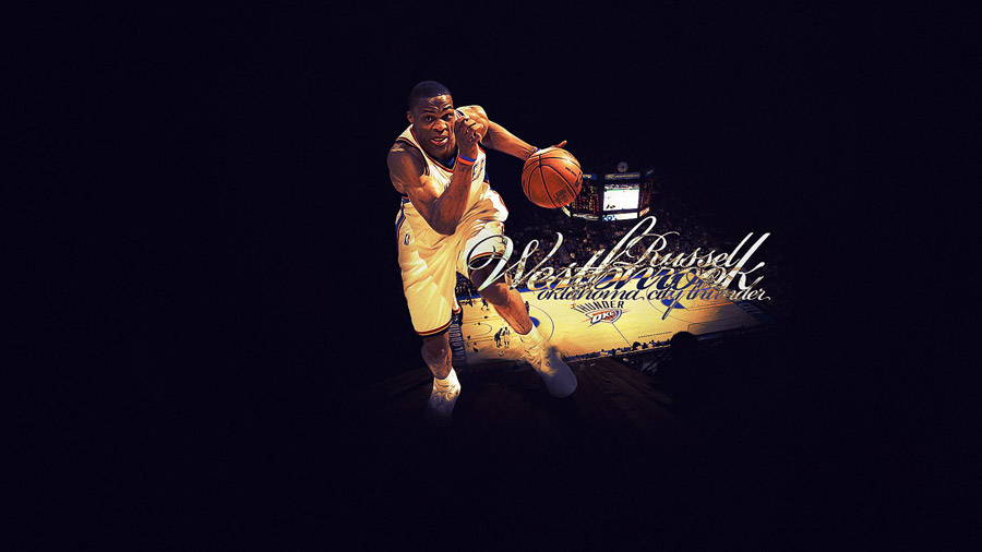 Russell Westbrook Thunder Widescreen Wallpaper