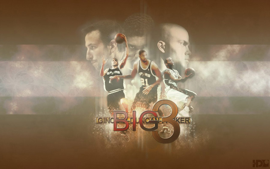 San Antonio Spurs Big 3 Widescreen Wallpaper