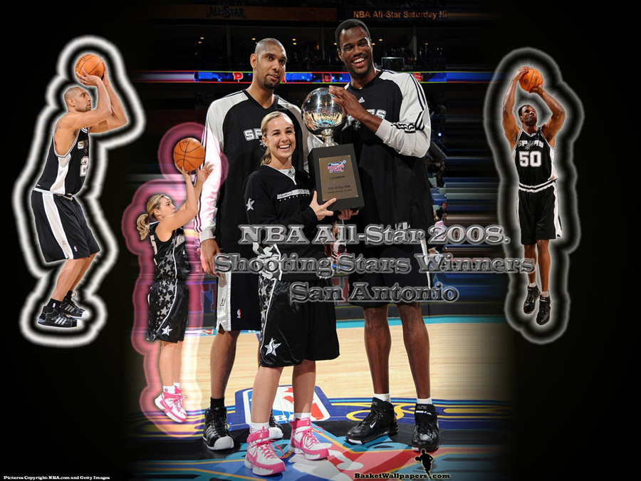 San Antonio Spurs Shooting Stars Wallpaper