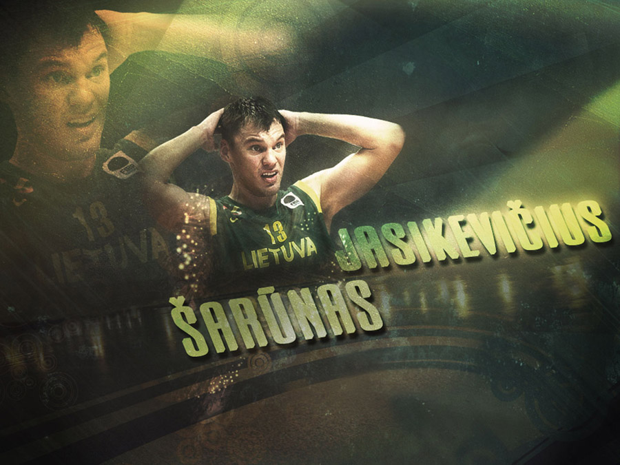 Sarunas Jasikevicius Lithuania Team Wallpaper