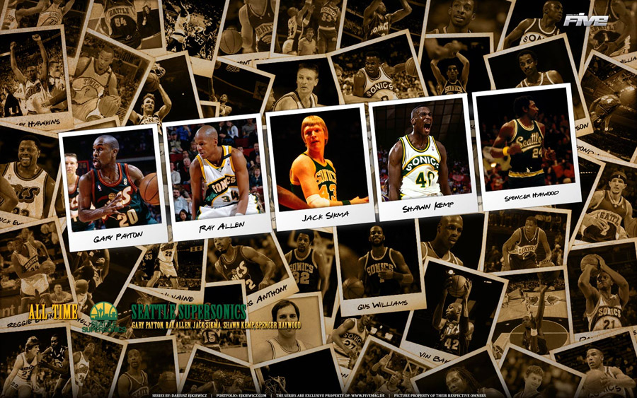 Seattle SuperSonics Legends Widescreen Wallpaper