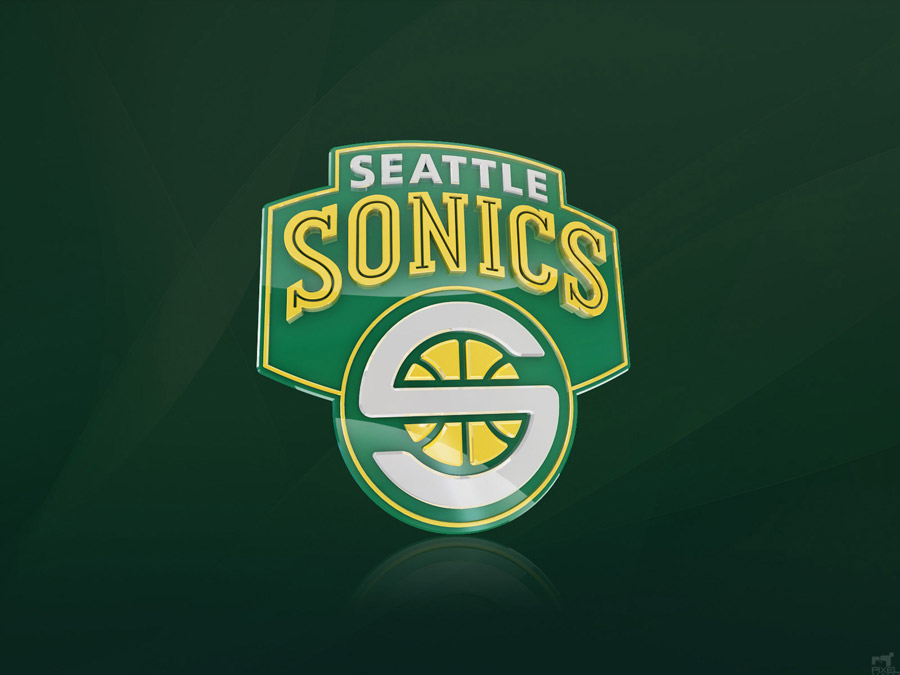 Seattle Supersonics 3D Logo Wallpaper