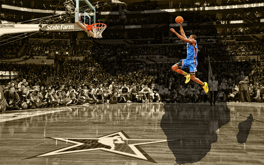 Serge Ibaka Free Throw Dunk Widescreen Wallpaper