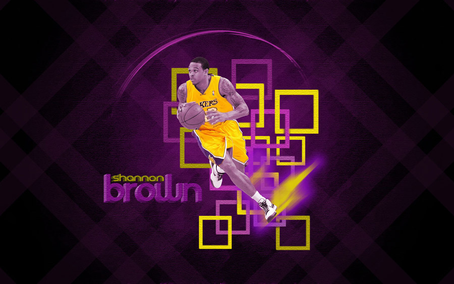 Shannon Brown LA Lakers Widescreen Wallpaper