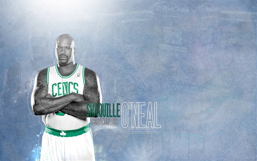Shaq 2011 Celtics Widescreen Wallpaper