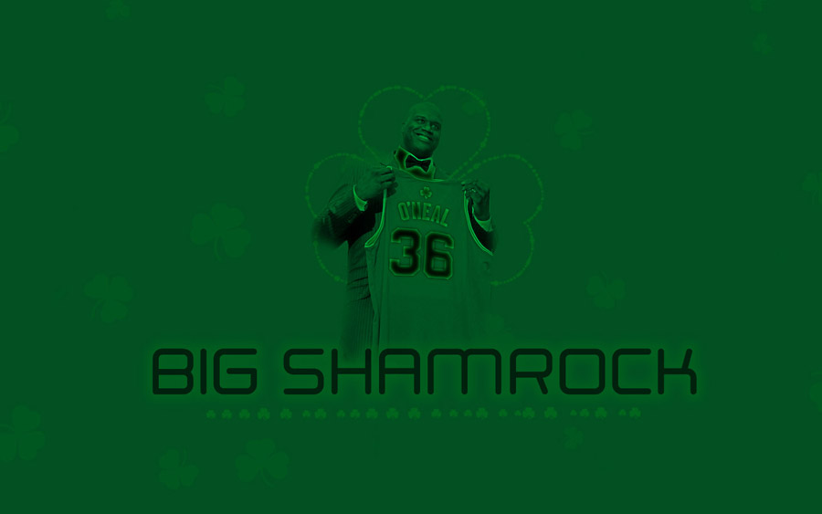 Shaquille O'Neal Celtics Widescreen Wallpaper