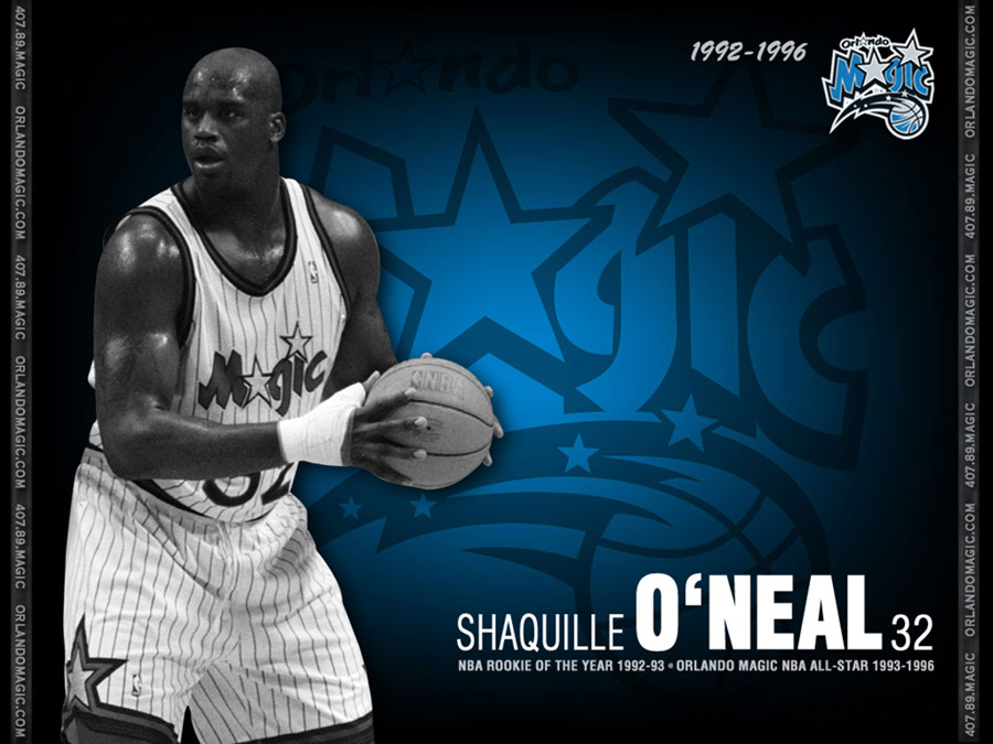 Shaquille O'Neal Orlando Magic Wallpaper